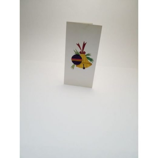 Greeting Card with straw bell